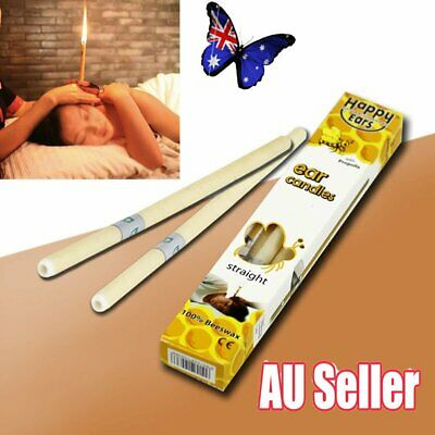 2Pcs Hopi Ear Candling Candel Natural Beeswax Excellent Quality Wax Candles JW