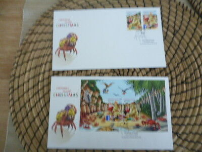Christmas Island fdc 2012 x 2  Christmas  mini sheet and set
