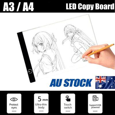 LED Tracing Light Box Board Art Tattoo A3 A4 Drawing Copy Pad Table USB Gift