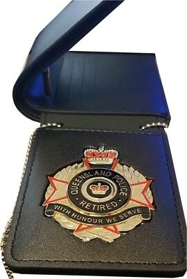 QLD Police Retired Leather Wallet