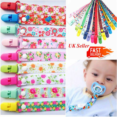 Uk Baby Boys Girls Sporty Themed Dummy Soother Clip Pacifier Strap Newborn Dummy