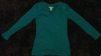 Faded Glory Green Long Sleeved Shirt Size S/CH (4-6)******