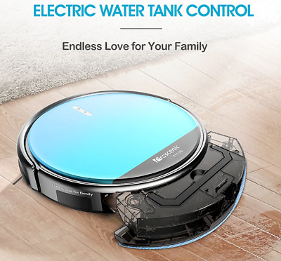 Robotic Vacuum Cleaner Low Noise Slim Design Electric Control Water Tank