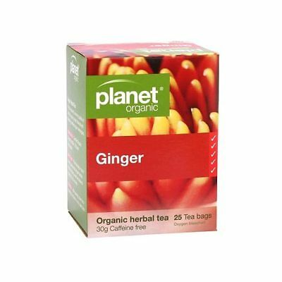 PLANET ORGANIC Ginger Herbal Tea Bags (25)