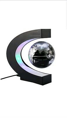 Magnetic Levitating Rotating Globe World Map LED Lamp Light Education