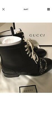 943172b8720 GUCCI QUEERCORE EMBELLISHED Leather Ankle Boots (size 39 ...