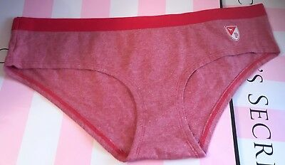 bc71cd9caaa2 Nwt Victoria's Secret Pink M Red Patch Phys Ed Univ Of Pink Rare Hipster  Panties