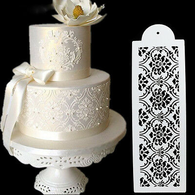 Rectangle Lace Silicone Sugar Craft Fondant Mats Cakes Decorating Mold Mould