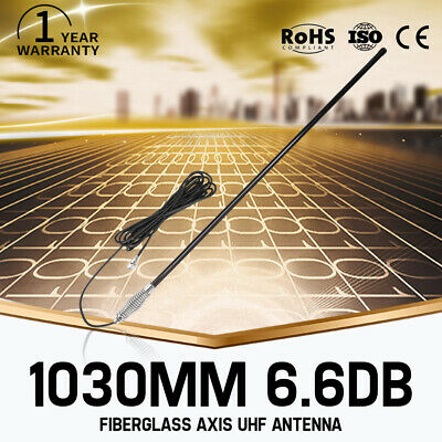 1030MM Antenna Hi Gain 6.6DBi For UHF CB Radio Fiberglass 477MHz Black Bull Bar