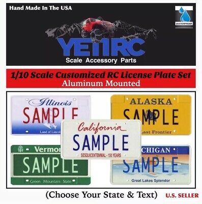1/10 Scale RC Accessories License Plates (1-Set) CUSTOMIZED For Crawlers/Trucks