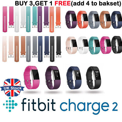 Fitbit Charge 2 Wrist Straps Wristbands Best Replacement Accessory Watch Band #