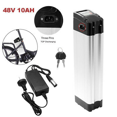 48V 12Ah 350W Lithium Battery Pack Electric Bicycle E-Bike Charger Top Discharge