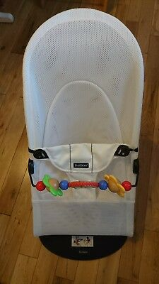 Baby Bjorn Bouncer - White Mesh with Toy Bar