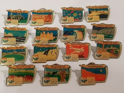 AU - 2000 SYDNEY OLYMPIC GAMES - TORCH RELAY BADGES from around Australia