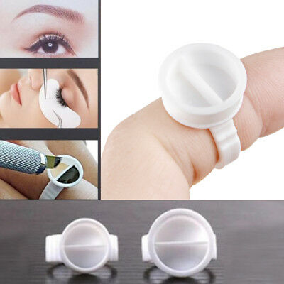 100 X Disposable 2 Dual-well Glue Ring Pallet Holder Eyelash Extension Separate