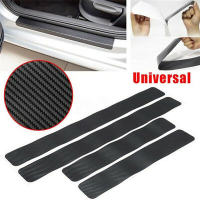 4PCS Car Door Sill Scuff Carbon Fiber Stickers Welcome PedalProtectAccessoriesLJ