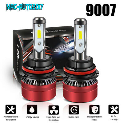 2-Sided 9007 HB5 LED Headlight Conversion Kit 120W HI-LO Dual Beam Bulbs 6500K