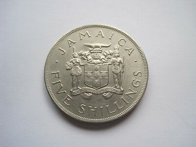 5 Shillings 1966 Jamaika 8. Commonwealth Spiele, 38mm,28gr.   #3186