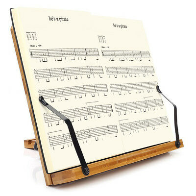 Bamboo Reading Rest Holder Stand for Book Music Sheet Textbook Cookbook Display