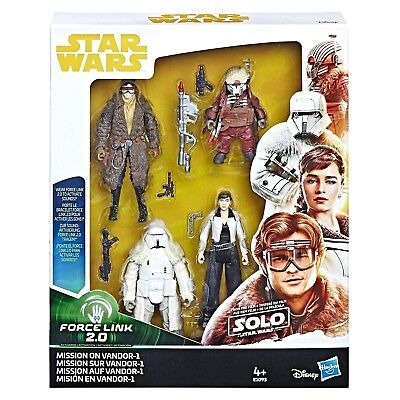 "Star Wars - Force Link 2.0 Mission on Vandor-1 3.75"" Figure Set Hasbro E1093..."
