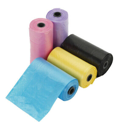 5 Rolls of 100 Bags Pet Dog Cat Waste Poop Poo Refill Core Pick Up Clean-U UFX