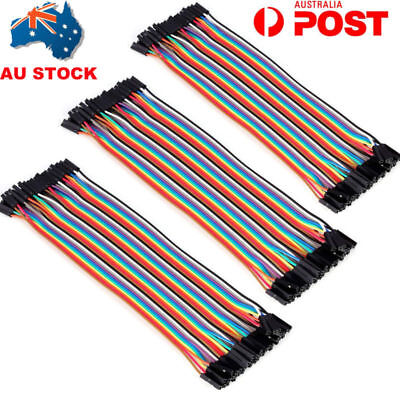 AU 20CM Dupont Wire Breadboard Jumper Wires for Arduino Robot Ribbon Cables Kit
