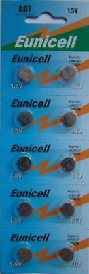 10 Eunicell AG7 Alkaline Coin Button cell Batteries Battery PX8