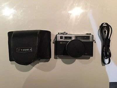 Yashica Electro 35 GS 35mm Rangefinder Camera w Strap, Case and Battery Adapter