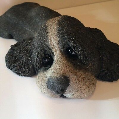 Lou Rankin Cement Springer Spaniel 1983 Concrete Dog