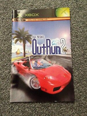 Manual Only (no Game)- Outrun 2 -XBOX - Lovely Condition