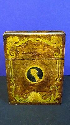 Antique Hand-painted Baroque Card Box