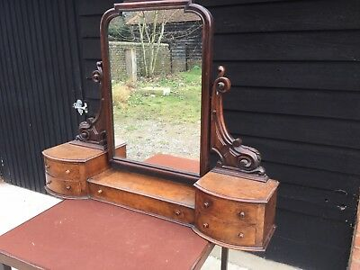 Antique Victorian Dressing Table Swing Mirror