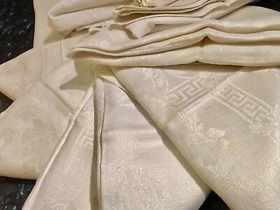10 Vintage Napkins. Large. Irish Linen. Catering Quality. White