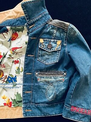 DSQUARED runway Ladies denim jacket authentic item EU42 in pre-loved cond.