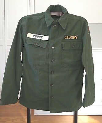 Vintage Original WWII US Army Uniform Shirt, Name, 13th Corps Clover Patch- Mint