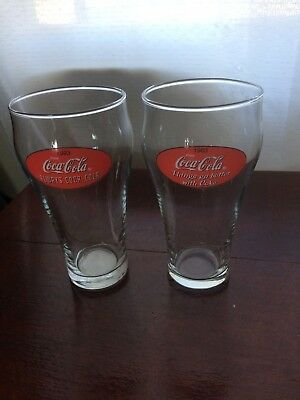 Collectable Coca-Cola Glasses large, 1963 and 1993