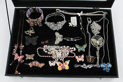 20 x Vintage  & Retro BUTTERFLY JEWELLERY inc. Brooches, Cuffs, Necklaces
