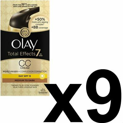 9 Olay Total Effects Color Corrección Crema Hidratante Spf 15 Mediumtodark 50ml