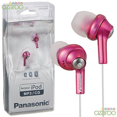 Panasonic Internos Auriculares Cascos para Ipod IPHONE CD MP3 - Rosa,RP-HJE270EP