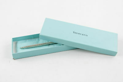 TIFFANY & CO. .925 STERLING SILVER Ballpoint Pen w/ Original Box WRITING (14g)