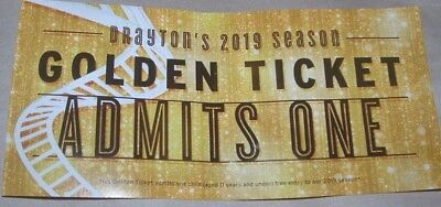 Drayton Manor Park Golden Ticket. 1 Free Child 2019 9/02 -24/02 & 27/03 - 31/10