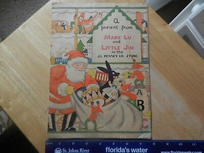 1929 J C Penny Store Co Christmas Gift  Book For Children