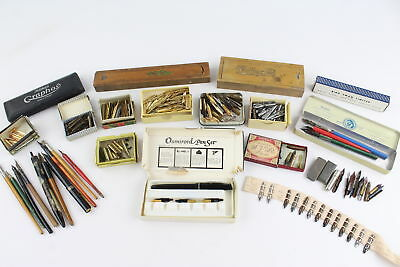 Job Lot of Assorted WRITING INSTRUMENTS Inc. Calligraphy Pens, Dipping Nibs Etc