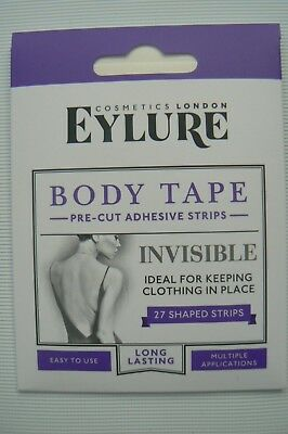0c47995d4fd EYLURE Invisible Body Tape Pre Cut Strips 27 Shaped Strips New Sealed