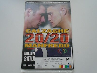 Joe Calzaghe V Peter Manfredo Junior  2007 At Cardiff With Ticket
