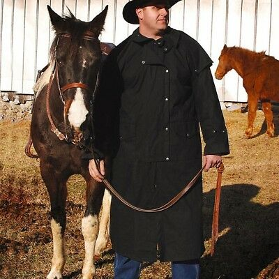 Black Duster / Coachman Coat. Perfect for Re-enactment, Stage or LARP