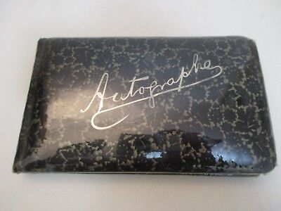 Vintage 1800s Autograph Book. Gold Edges & Calligraphy Writing Concordia College