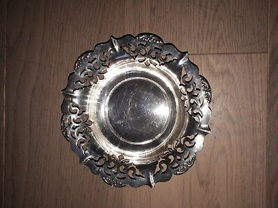 Little Silver Plated Dish  16 cm across top outside diameter