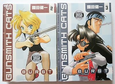 Gunsmith Cats Vol. 2 & 3 Burst NEW Dark Horse Manga Novel Anime Comic Book Lot