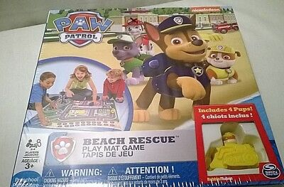 Paw Patrol Beach Rescue Play Mat Game Spin Master Nickelodeon NEW
